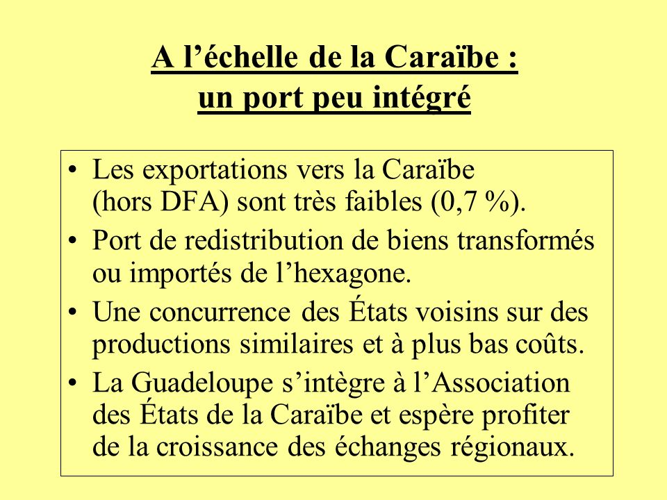 A l'échelle de la Caraïbe : un port peu intégré