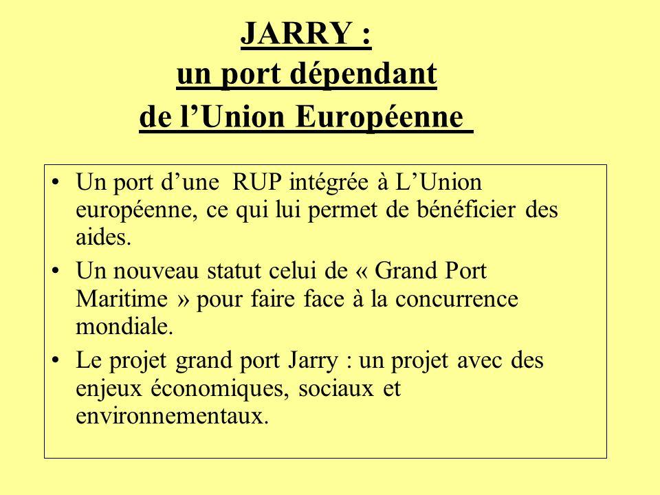 JARRY : un port dépendant de l'Union Européenne