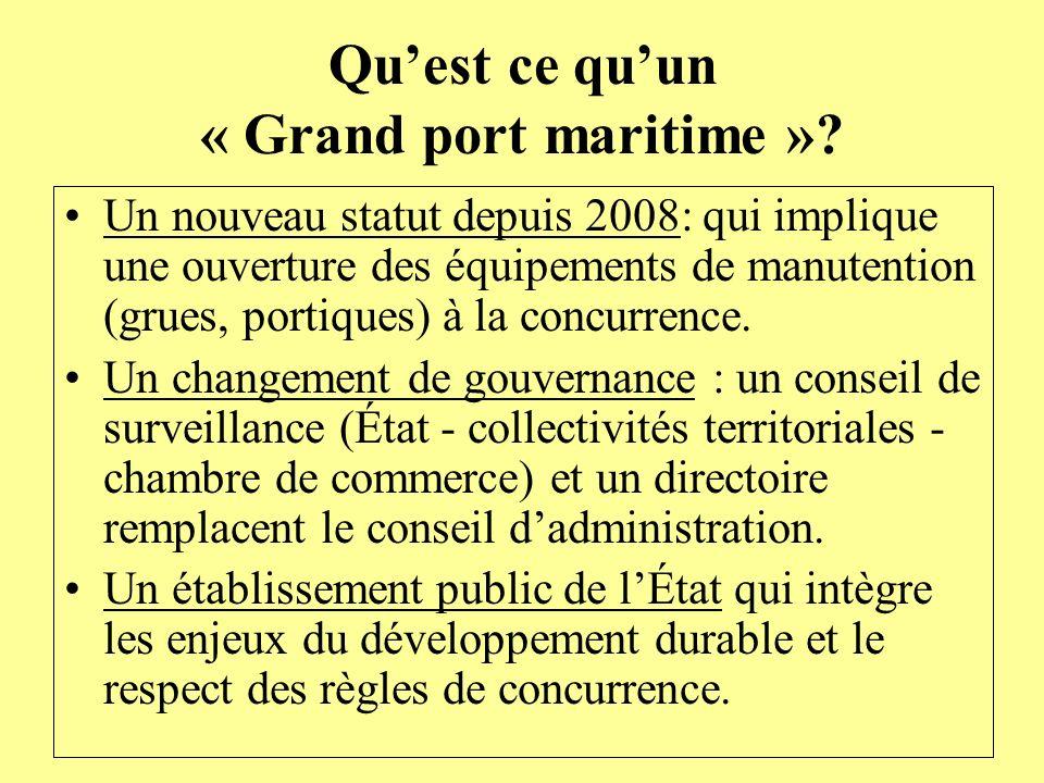Qu'est ce qu'un « Grand port maritime »