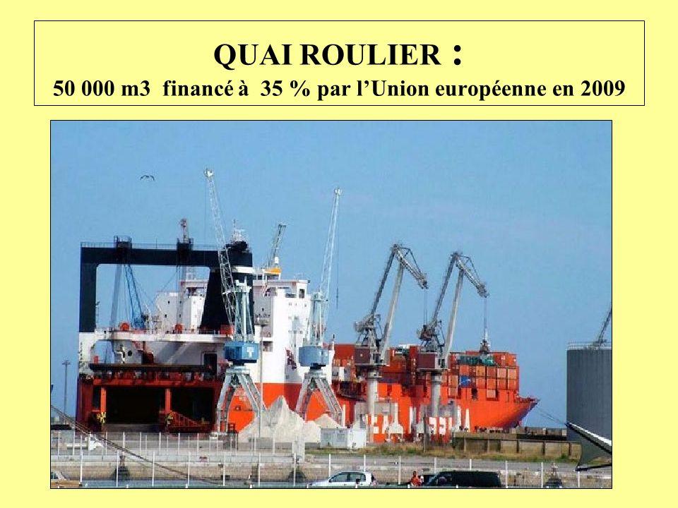 QUAI ROULIER : 50 000 m3 financé à 35 % par l'Union européenne en 2009
