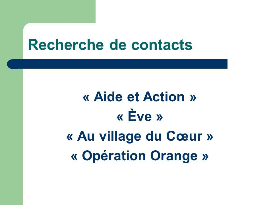 Recherche de contacts « Aide et Action » « Ève »