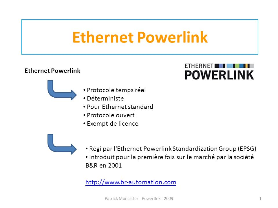 Patrick Monassier - Powerlink - 2009