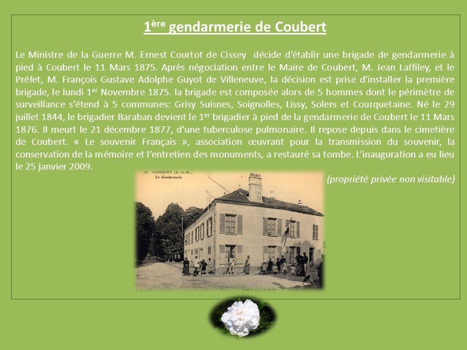 1ère gendarmerie de Coubert