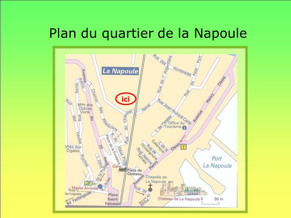 Plan du quartier de la Napoule