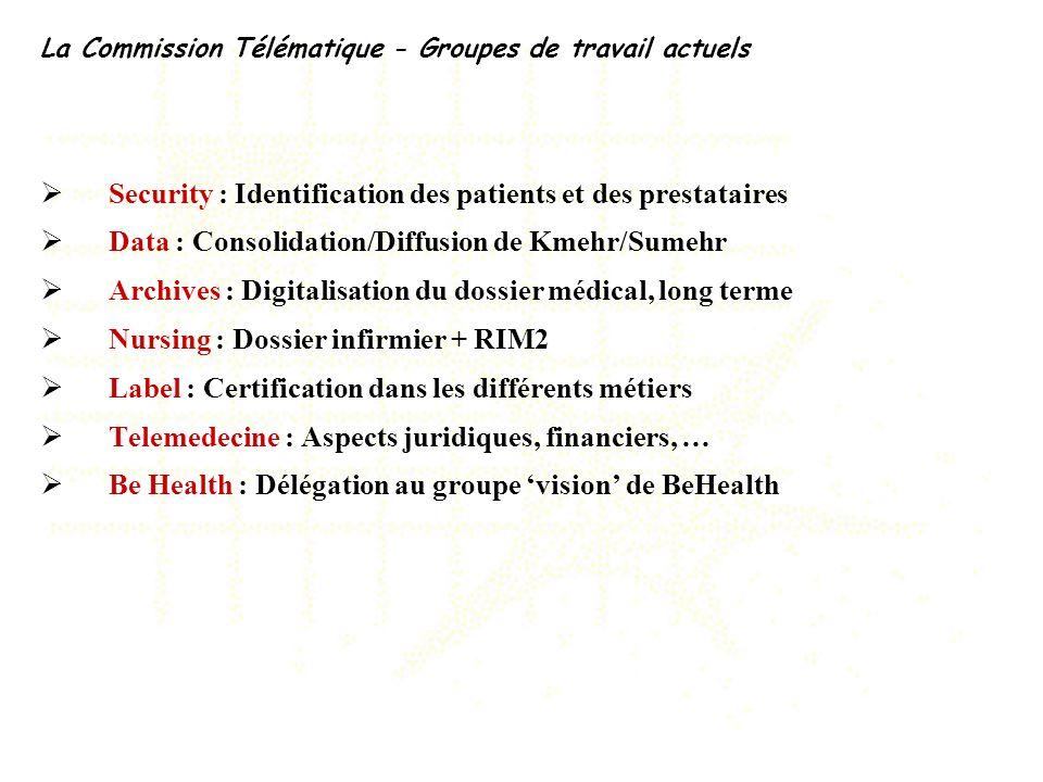 Security : Identification des patients et des prestataires