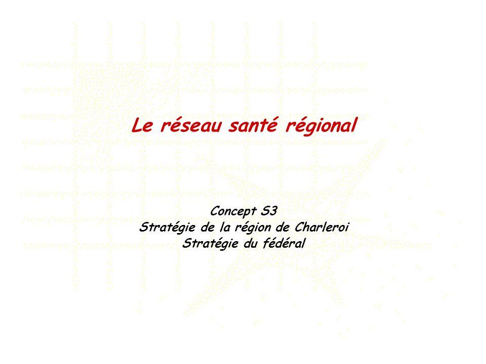 Le réseau santé régional Stratégie de la région de Charleroi