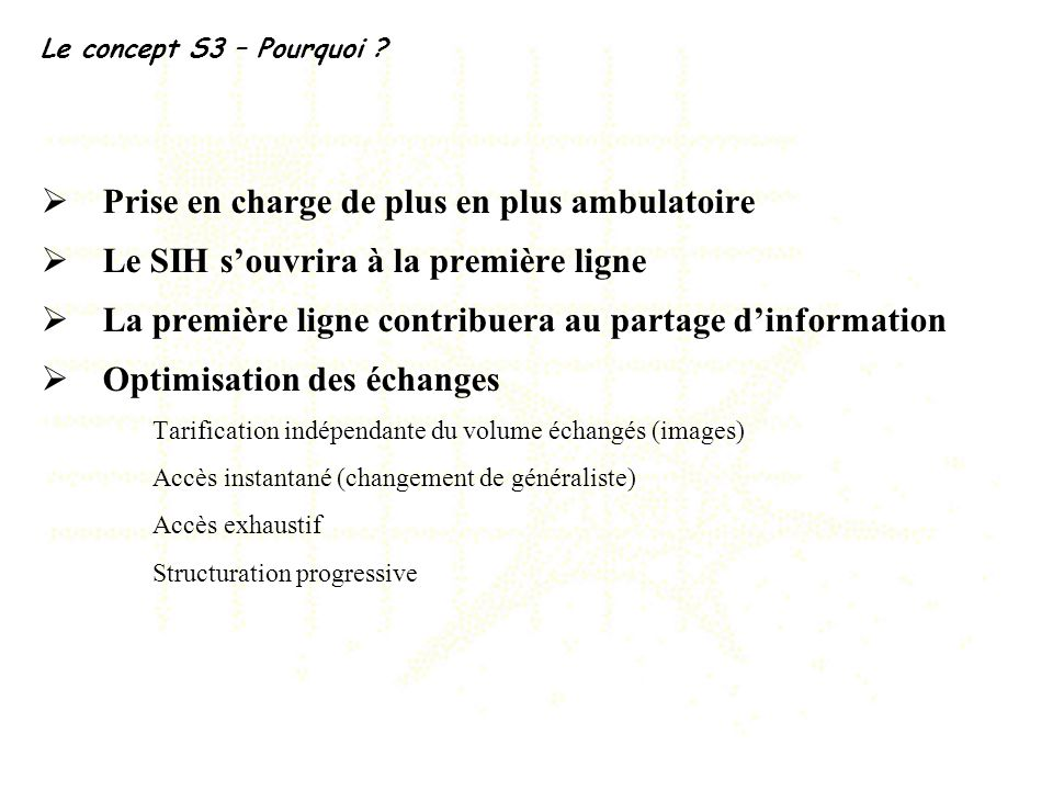 Prise en charge de plus en plus ambulatoire