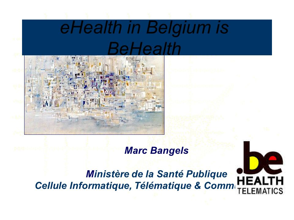 eHealth in Belgium is BeHealth