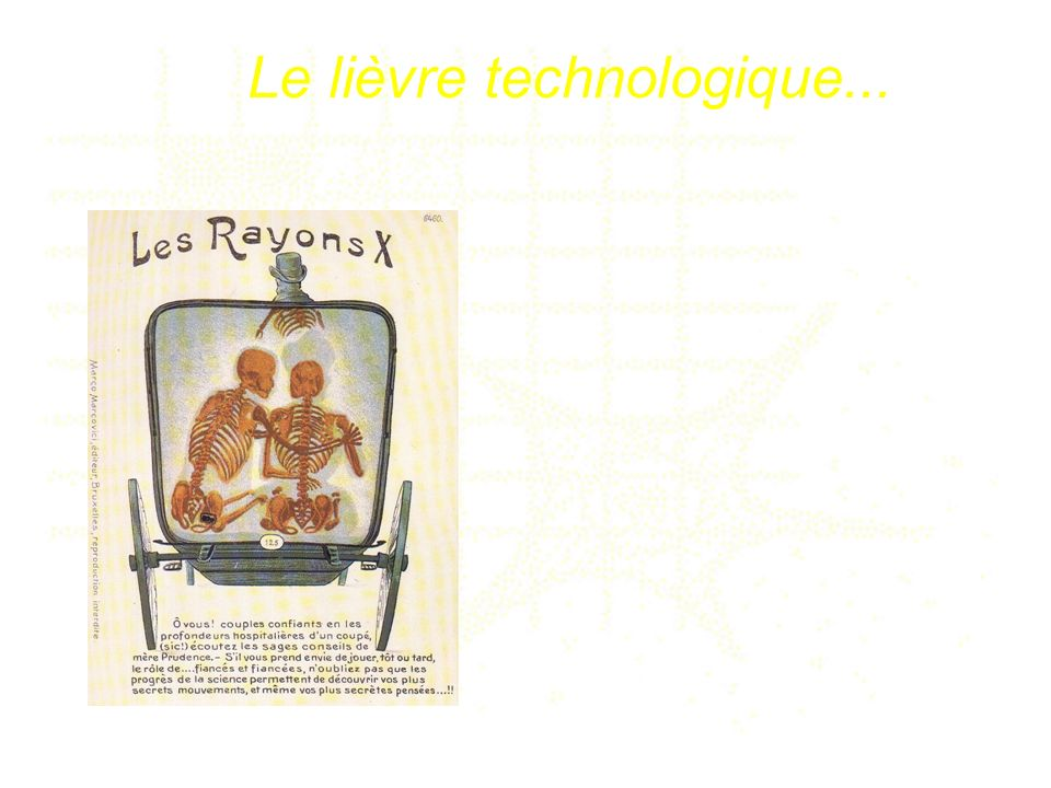 Le lièvre technologique...