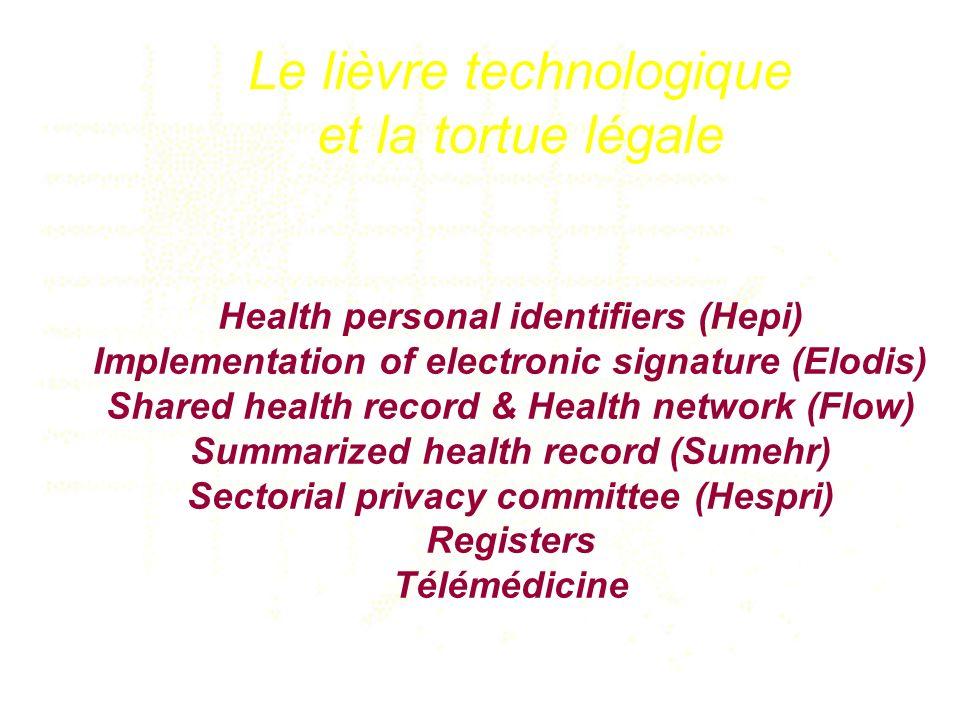 Le lièvre technologique et la tortue légale