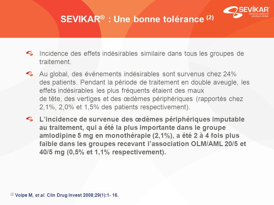 SEVIKAR® : Une bonne tolérance (2)