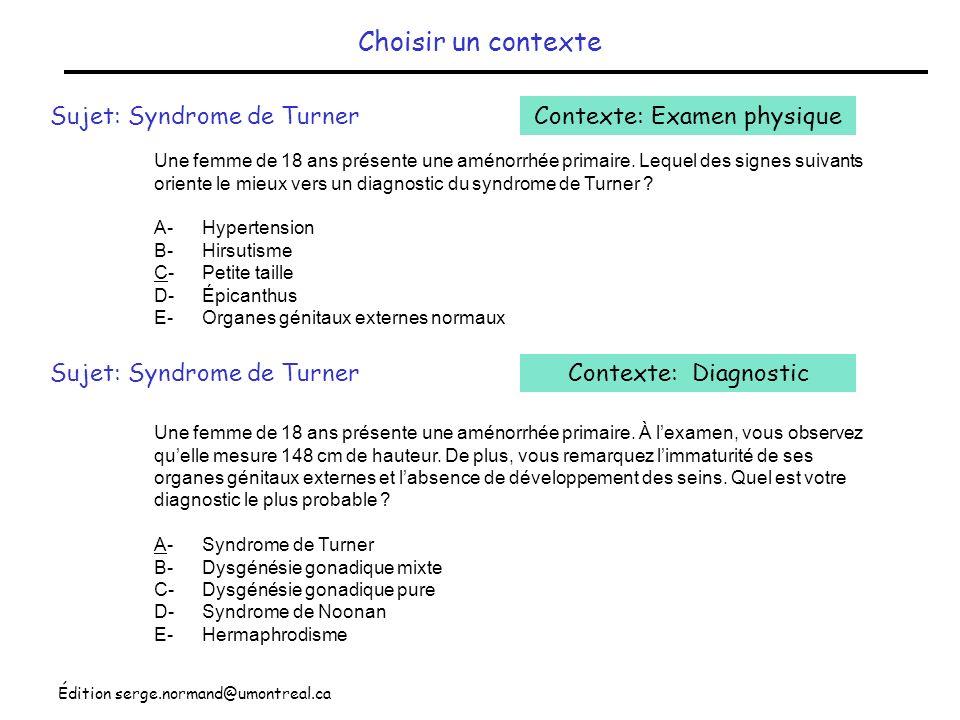 Contexte: Examen physique