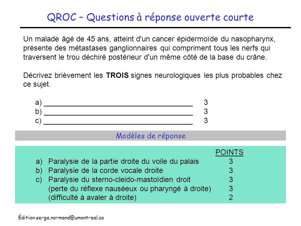 QROC – Questions à réponse ouverte courte