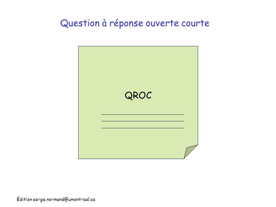 Question à réponse ouverte courte
