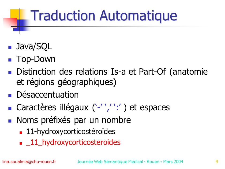 Traduction Automatique