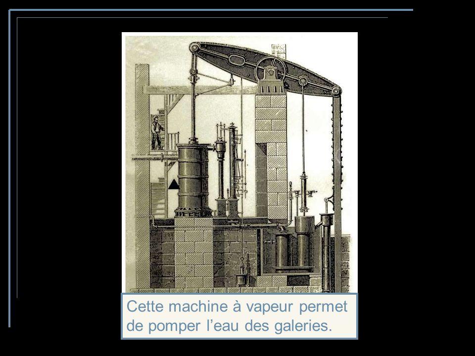 Cette machine à vapeur permet de pomper l'eau des galeries.
