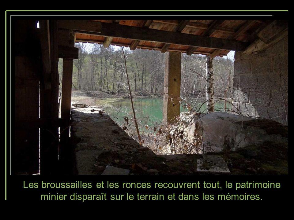 Les broussailles et les ronces recouvrent tout, le patrimoine minier disparaît sur le terrain et dans les mémoires.