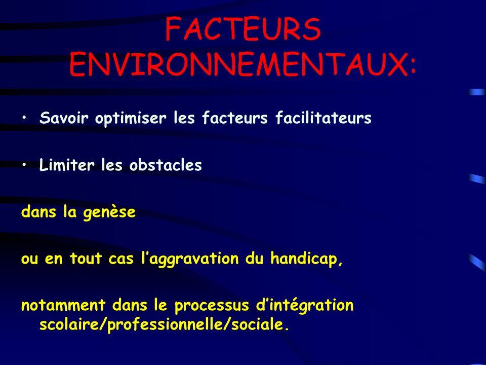 FACTEURS ENVIRONNEMENTAUX: