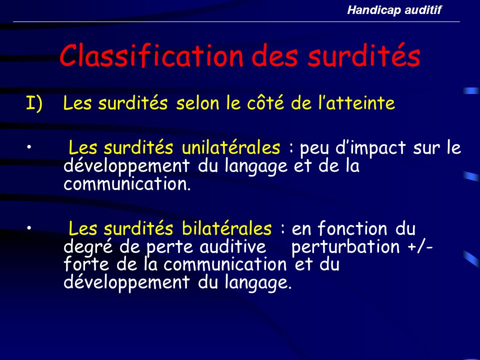 Classification des surdités