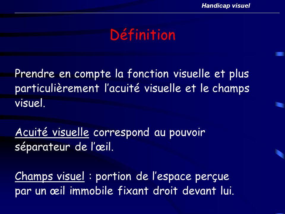 Définition Prendre en compte la fonction visuelle et plus