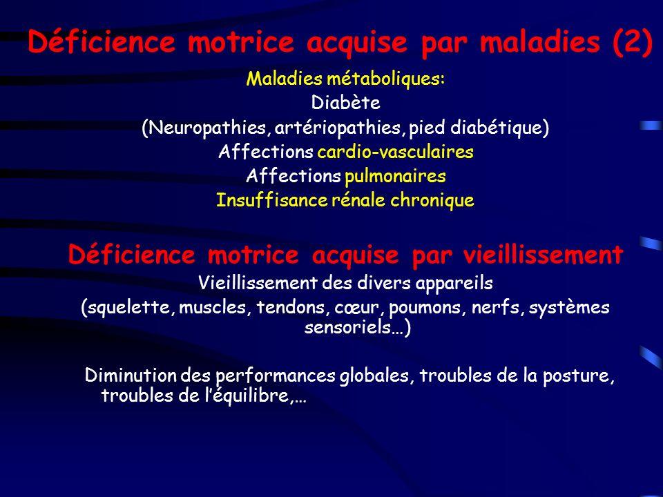 Déficience motrice acquise par maladies (2)