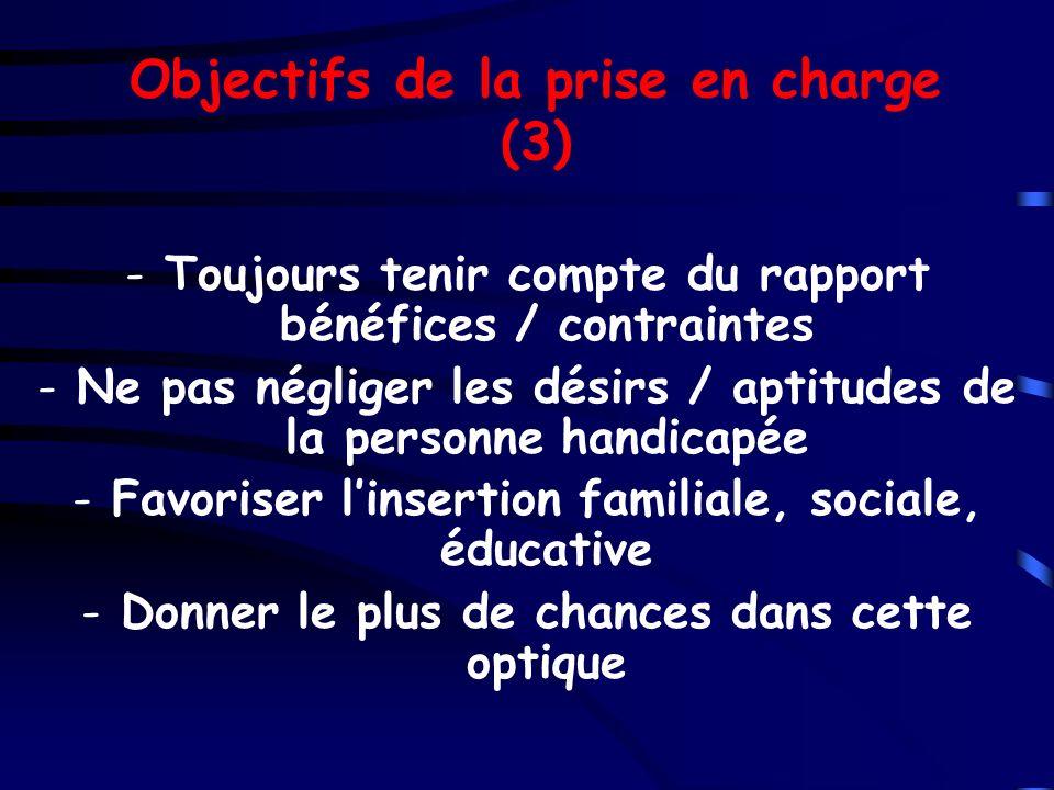 Objectifs de la prise en charge (3)