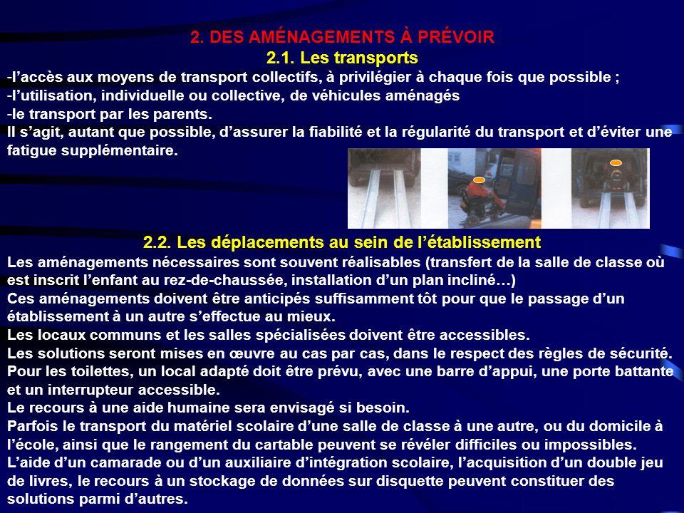 2. DES AMÉNAGEMENTS À PRÉVOIR 2.1. Les transports