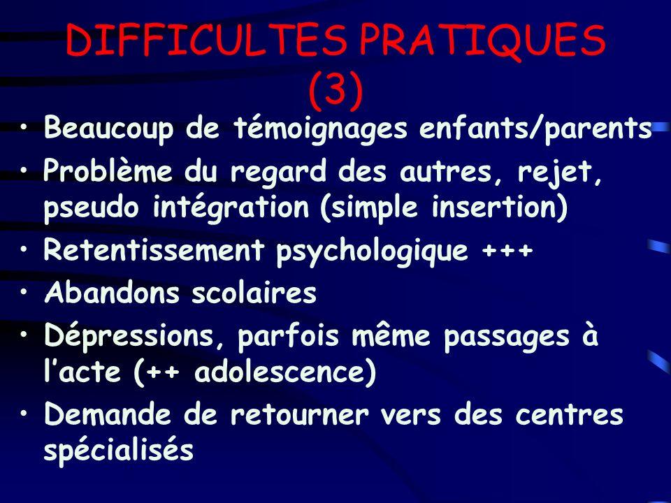 DIFFICULTES PRATIQUES (3)