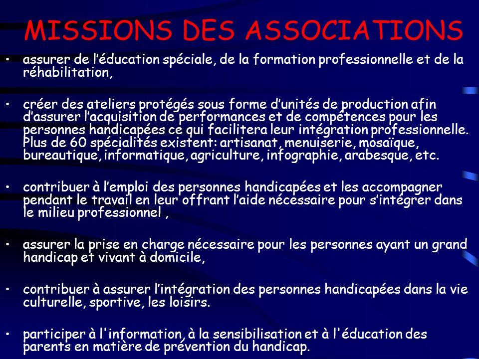 MISSIONS DES ASSOCIATIONS