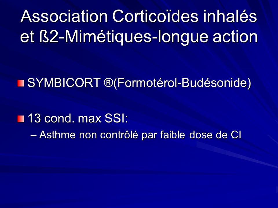Association Corticoïdes inhalés et ß2-Mimétiques-longue action