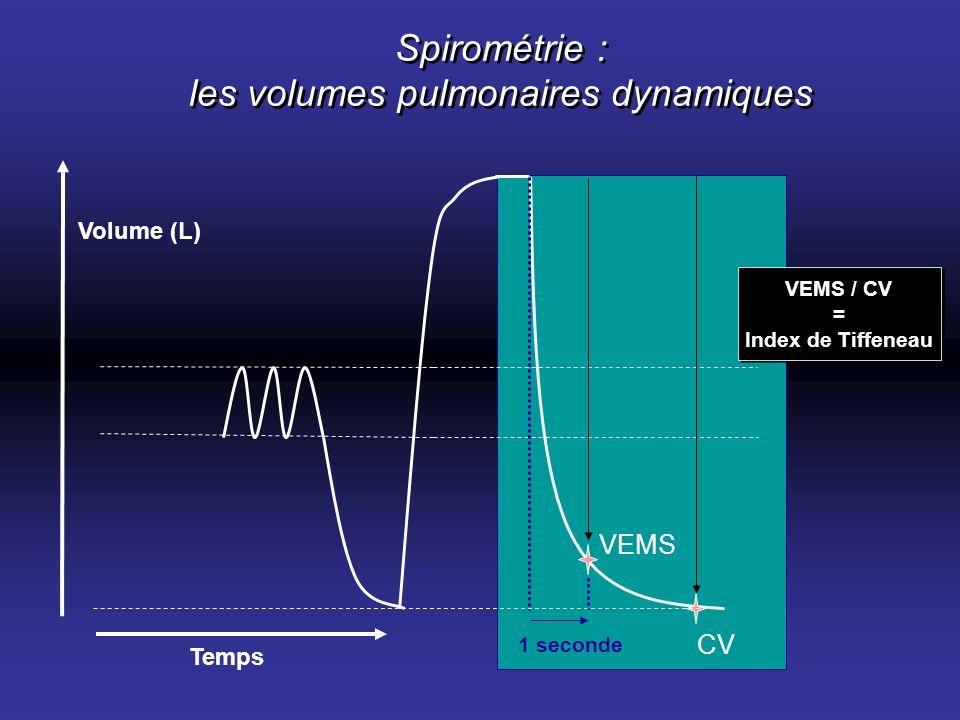Spirométrie : les volumes pulmonaires dynamiques
