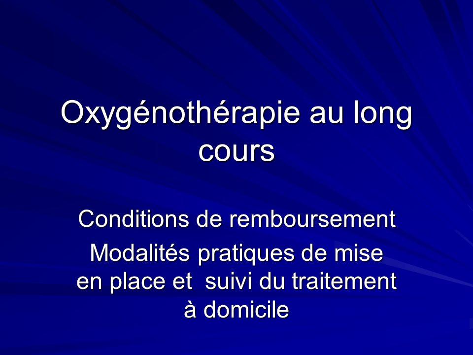 Oxygénothérapie au long cours