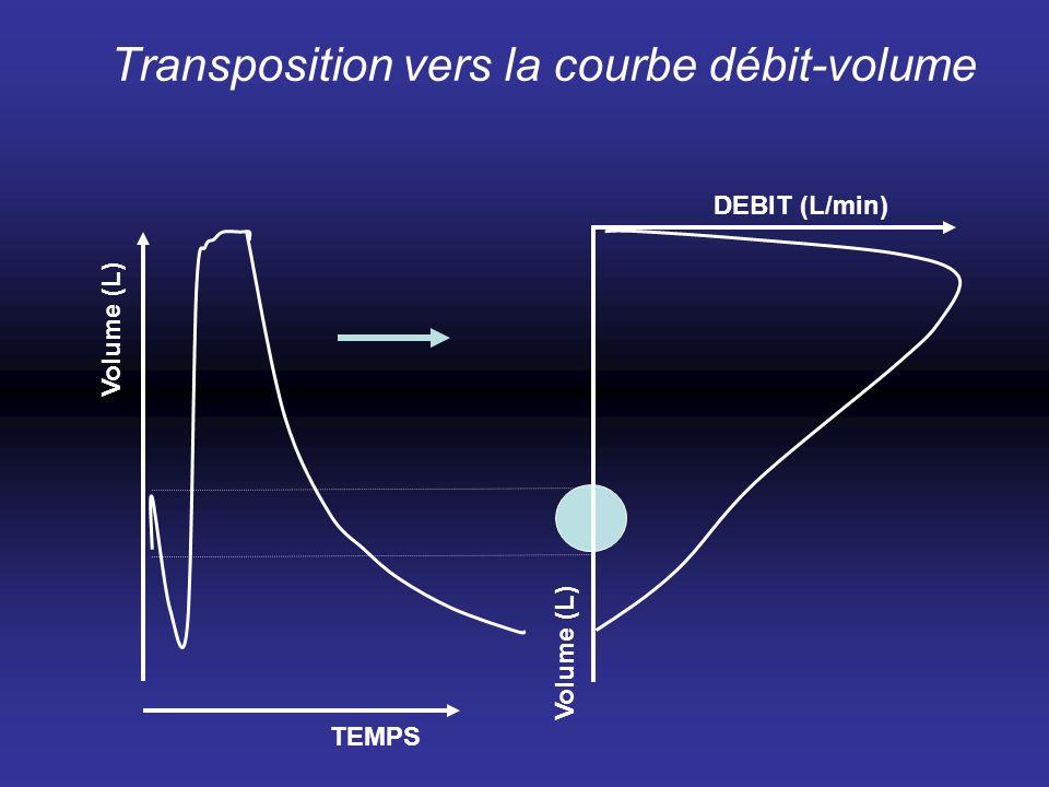 Transposition vers la courbe débit-volume