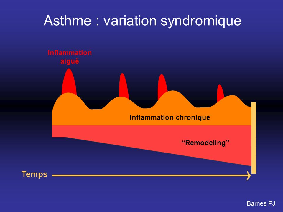 Asthme : variation syndromique