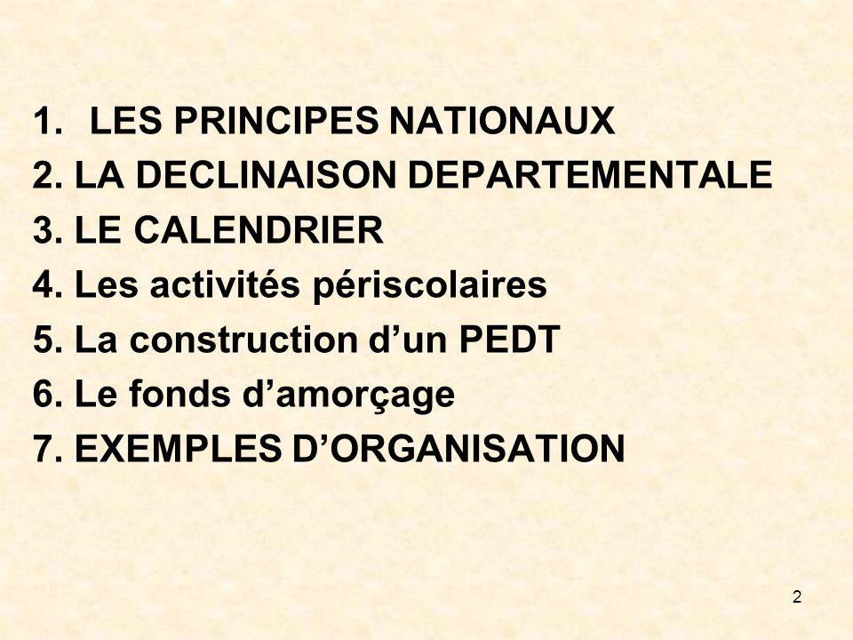 LES PRINCIPES NATIONAUX