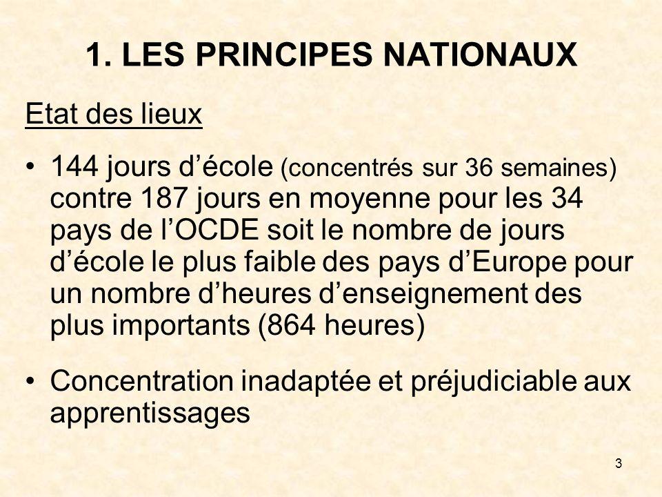 1. LES PRINCIPES NATIONAUX