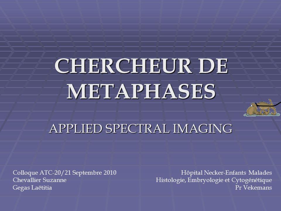CHERCHEUR DE METAPHASES
