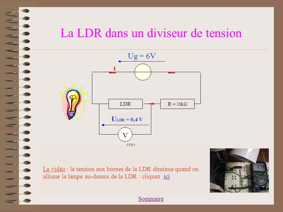 La LDR dans un diviseur de tension