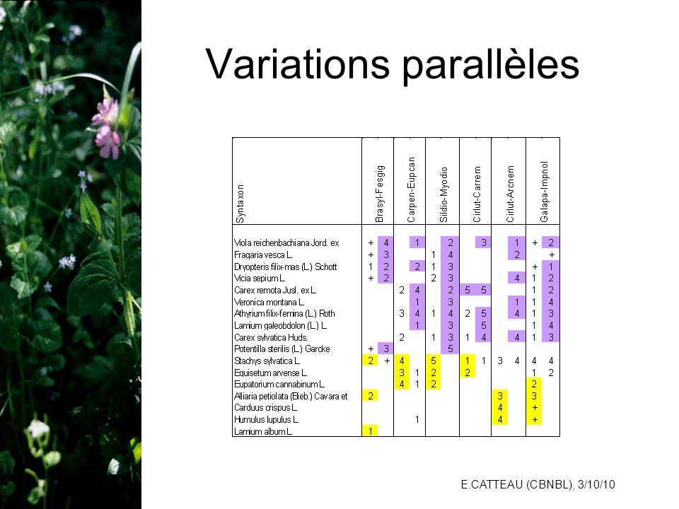 Variations parallèles
