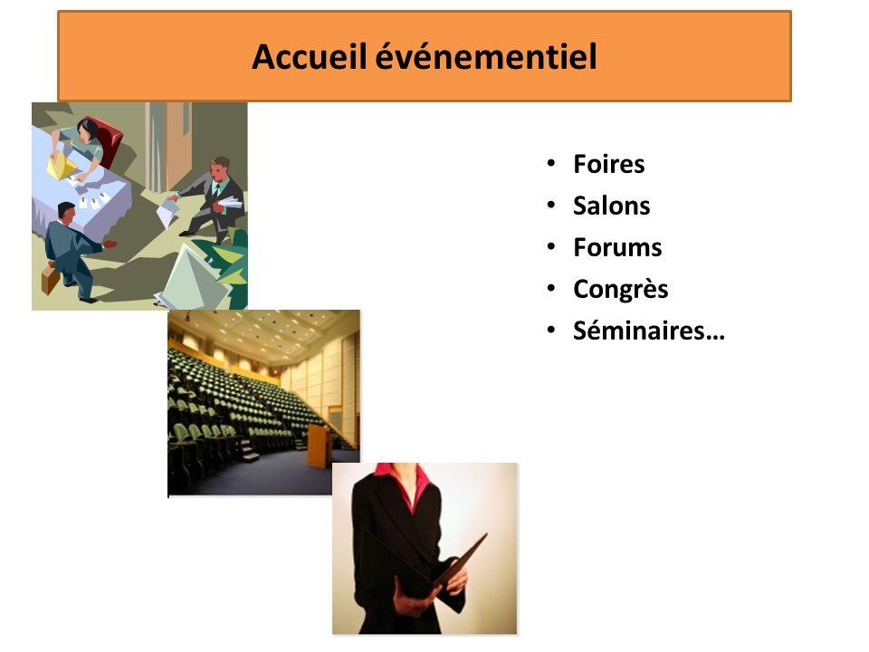 Accueil événementiel Foires Salons Forums Congrès Séminaires… ML/2012