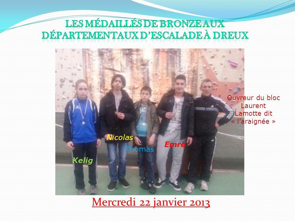 Les médaillés de bronze aux départementaux d'escalade à Dreux