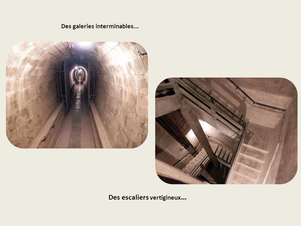 Des escaliers vertigineux...