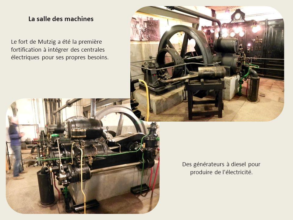 Des générateurs à diesel pour produire de l électricité.