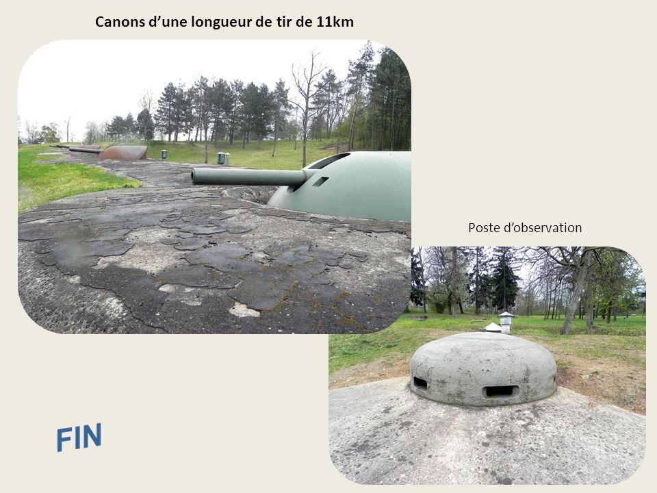 Canons d'une longueur de tir de 11km