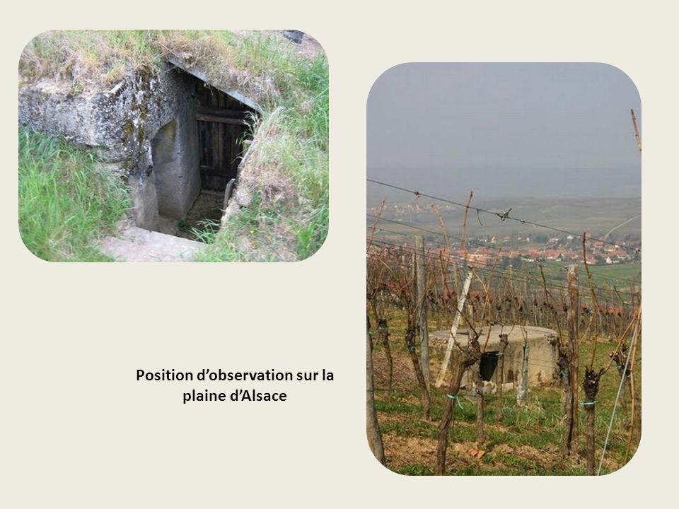 Position d'observation sur la plaine d'Alsace