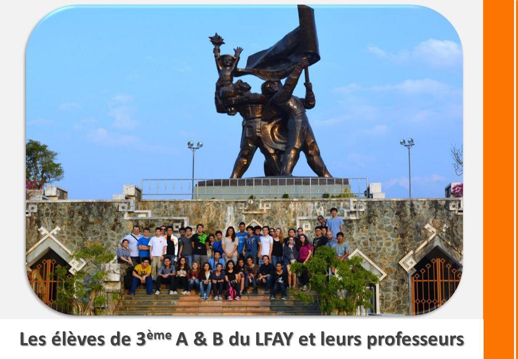 Les élèves de 3ème A & B du LFAY et leurs professeurs
