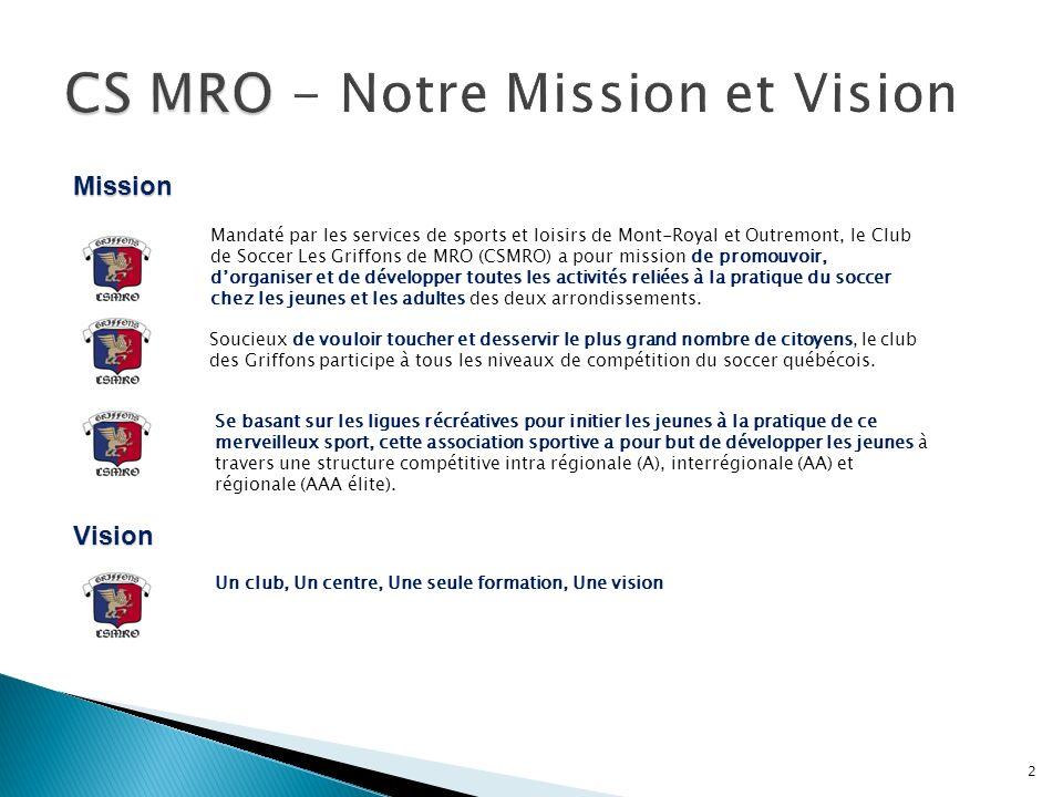 CS MRO - Notre Mission et Vision