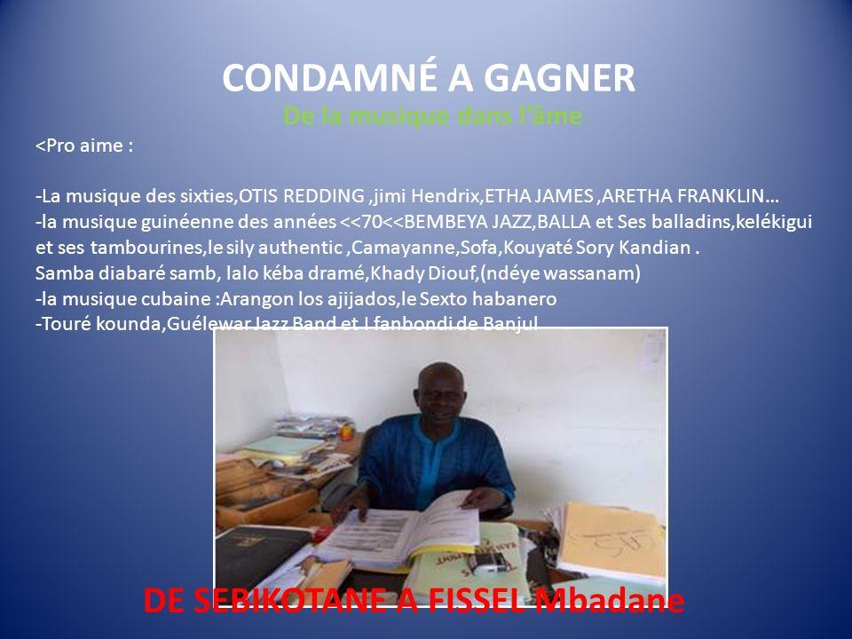 DE SEBIKOTANE A FISSEL Mbadane