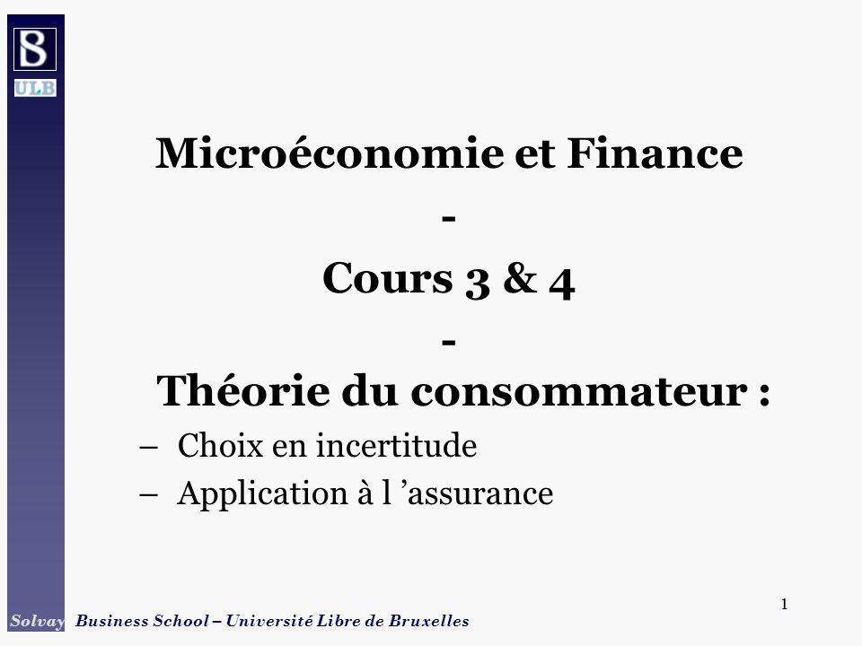 Microéconomie et Finance - Théorie du consommateur :