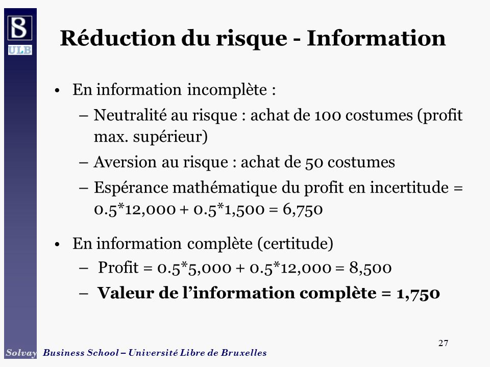 Réduction du risque - Information